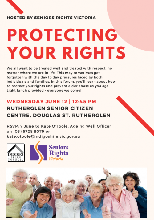Protecting Your Rights - a free forum held in Rutherglen