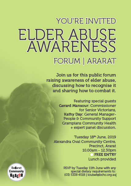 Ararat Elder Abuse Awareness Forum